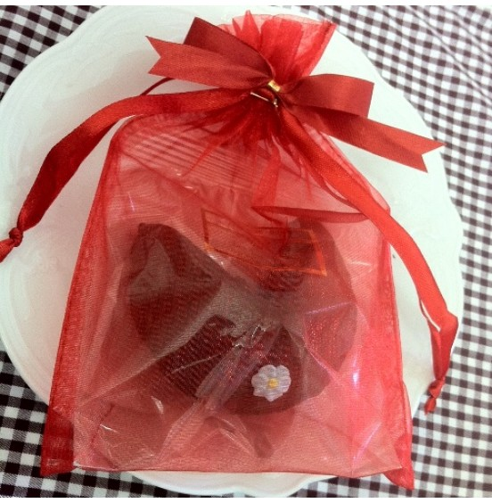 Chocolate Fortune Cookies  - Flowers & Hearts Decoration