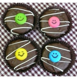 Chocolate Covered Oreo Cookie - Happy Faces
