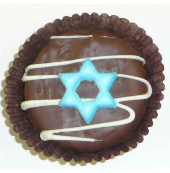 Chocolate Covered Oreo Cookie - Star of David