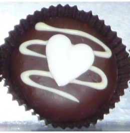 Chocolate Covered Oreo Cookie - Hearts Decoration