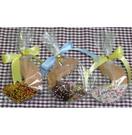 Chocolate Fortune Cookies - Half Dipped w/ Sprinkles!