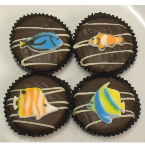 Chocolate Covered Oreo Cookie - Tropical Fish
